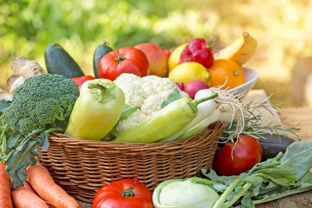 La comida orgánica - comida sana Foto de archivo