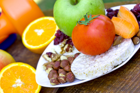 ble: Healthy diet for athletes Stock Photo