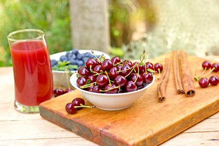 cherry: Cherries and cherry juice - smoothie