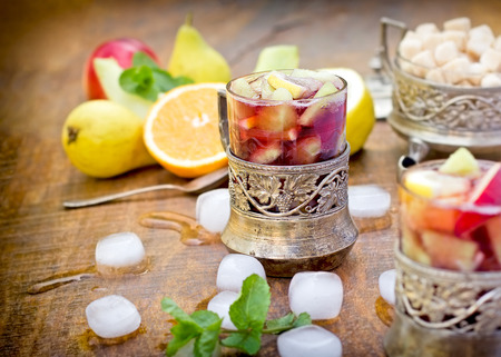 refreshment: Refreshment in hot summer days - cold sangria