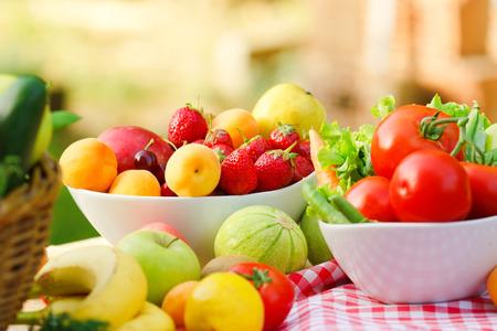 Healty bioélelmiszerek Stock fotó