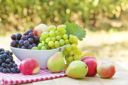 frutas orgânicas frescas Imagens