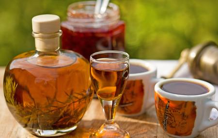 invigorate: Plum brandy and coffee