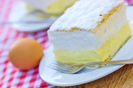 cream on cake: Cream cake - Cream pie