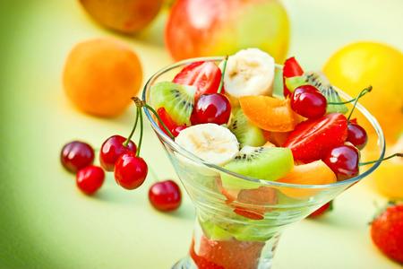 freshly prepared: Fruit salad freshly prepared Stock Photo