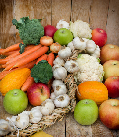 Egészséges táplálkozás - bioélelmiszerek Stock fotó