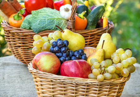 Organic fruits and vegetables - healthy food