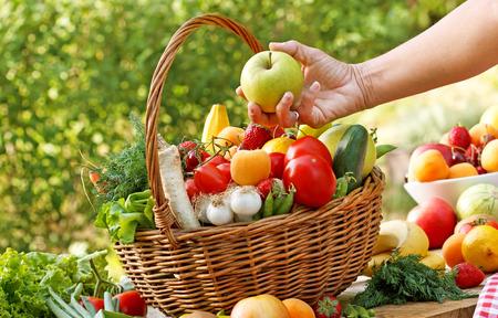 Alimentos orgánicos saludables Foto de archivo