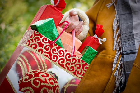 Christmas shopping - purchasing is satisfaction and happiness Standard-Bild