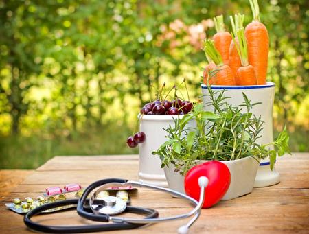 Pojęcie zdrowej diety z suplementów Zdjęcie Seryjne