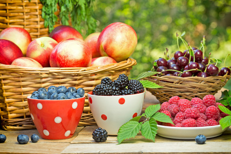 frutos vermelhos orgânicos frescos