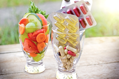 saludable: Dieta saludable - estilo de vida saludable Foto de archivo