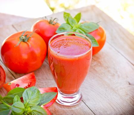 Tomatensaft - Tomaten Smoothie Nahaufnahme