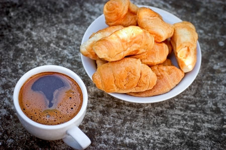 Coffee and croissant for pleasure