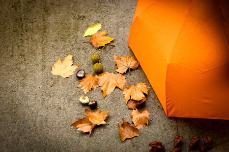 cloudy day: Rainy day - autumn concept Stock Photo