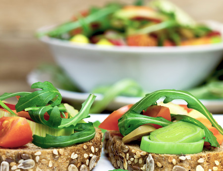 Vegetariánské sendviče - zdravé jídlo