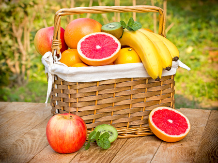 exotic fruits: Tropical fruits - exotic fruits Stock Photo