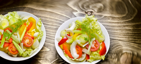 freshly prepared: Freshly prepared vegetable salad - healthy meal