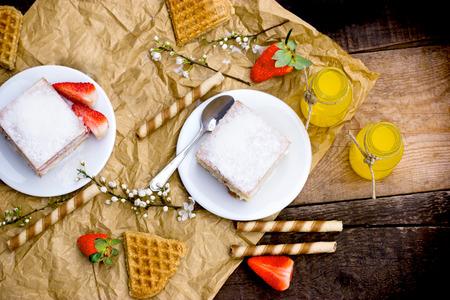 pleasure: Pleasure of taste - cream pie, creamy cake