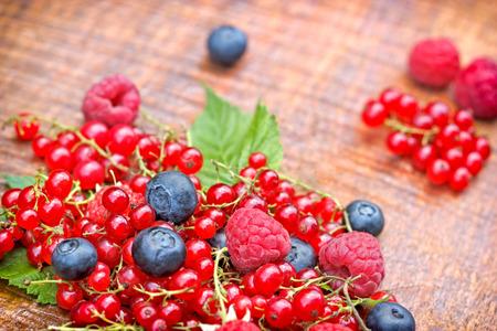 antioxidants: Strong antioxidants - berry fruits on table Stock Photo