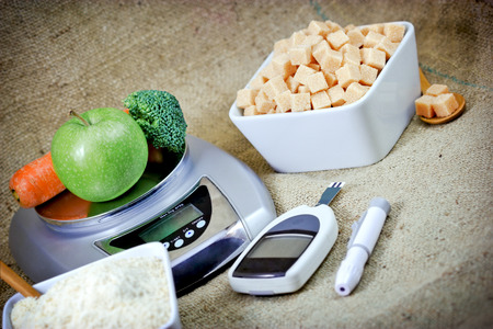 glucose: Proper nutrition to health without diabetes - eating healthy food