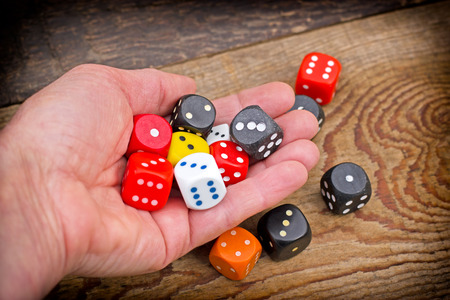 addiction: Lets play - gambling addiction Stock Photo