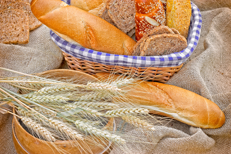 whole grains: Bread and pastries made with  whole grains Stock Photo