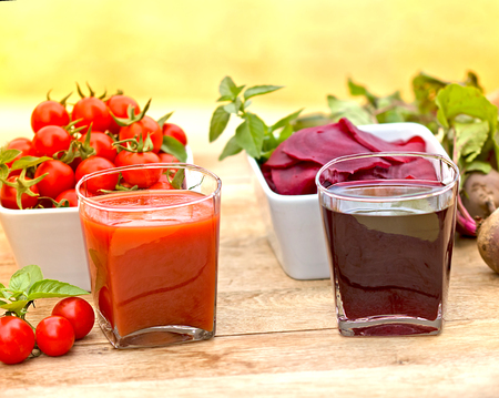 beet juice: Tomato juice and beet juice  - healthy drinks