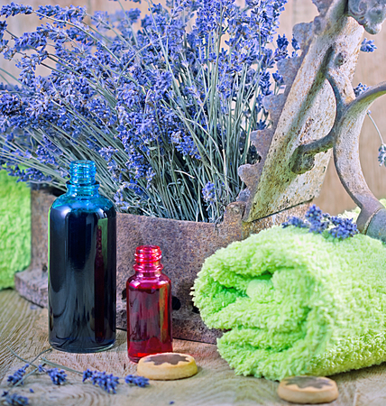 lavender oil: Lavender oil (essential oil) and lavender