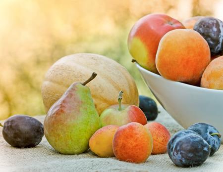seasonal: Seasonal healty vegetarian food Stock Photo