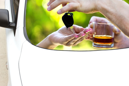 drunk driving: Think of yourself and others - Do not drink when you drive Stock Photo