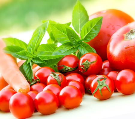 cherry tomatoes: Healthy vegetables  - cherry tomatoes