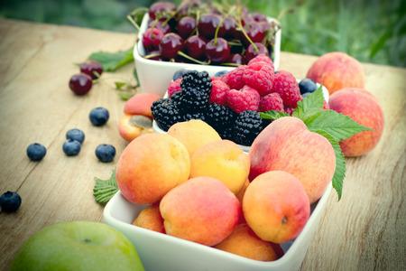brambleberry: Selective focus on blackberry (bramble, brambleberry) - fresh organic fruits Stock Photo