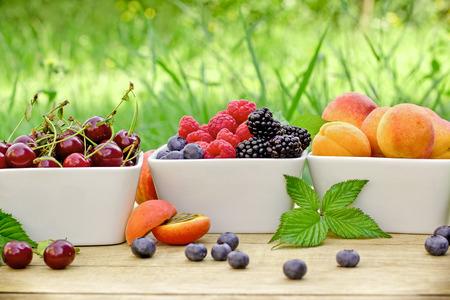 brambleberry: Fresh organic fruirs - healthy food for haelthy diet Stock Photo