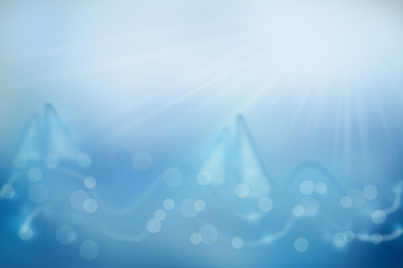 open sea: Sea, sun, relaxation - illustration as a background for an inspired for your holiday, vacation Stock Photo
