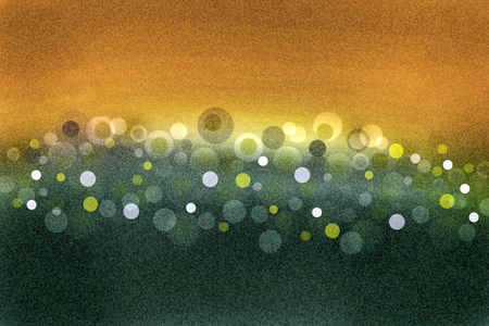 lining: Grainy background with yellow and green circles as an abstract lining (background, illustration) Stock Photo