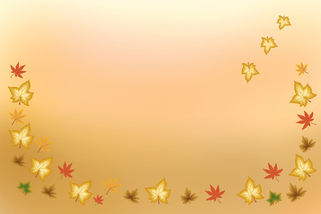 add text: Autumn colorful leaves as background - illustration where you can add text