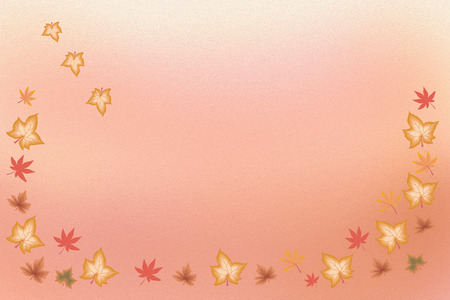 add text: Illustration where you can add text - autumn colorful leaves
