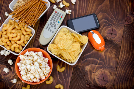 unhealthy lifestyle: The concept of unhealthy lifestyle, the choice is up to you Stock Photo