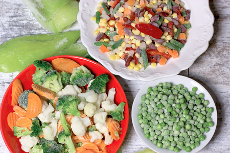 Frozen vegetables, quick-frozen vegetables maintains vegetables to stay fresh (healthy diet)