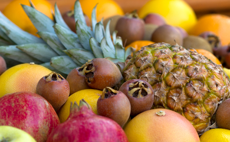 frutas tropicales: Tropical fruits Foto de archivo