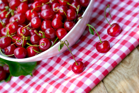 Sour cherry, healthy strong antioxidant - healthy fruit 写真素材