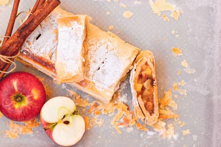 Apple cake, apple strudel delicious and healthy food