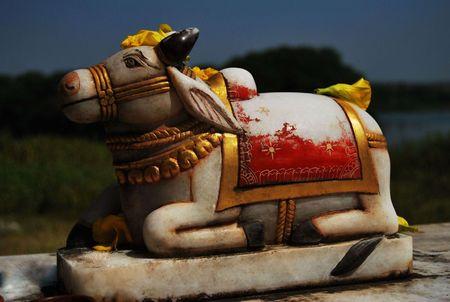 nandi: lord shivs nandi Stock Photo