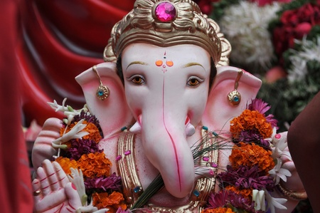 pooja: ganesha Stock Photo
