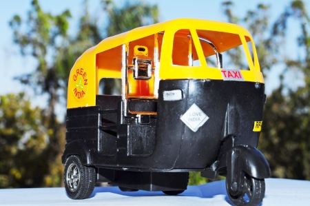 auto rickshaw: Indian auto rickshaw Toy,Poona Maharashtra, India