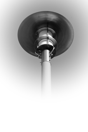 Black and white street lamp, Poona, Maharashtra, India photo