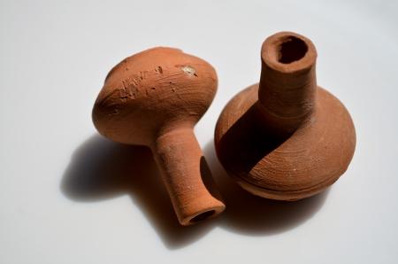 earthen: Small clay earthen pot Poona, Maharashtra, India