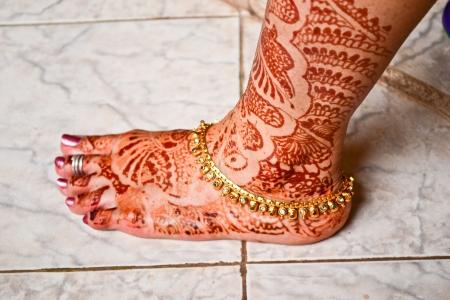 indian bride: Indian bride mehand lag