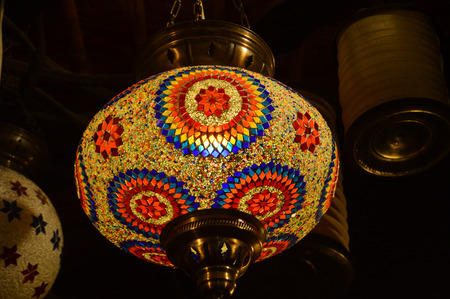 lampshade: Colourful lampshade Stock Photo